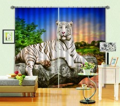 3D Stone Tiger 61 Blockout Photo Curtain Printing Curtains Drapes Fabric Window - $130.83+