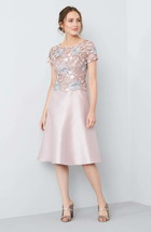 Adrianna Papell AP1E201246 Guipure Lace & Mikado Dress Sz 14 - $75.61