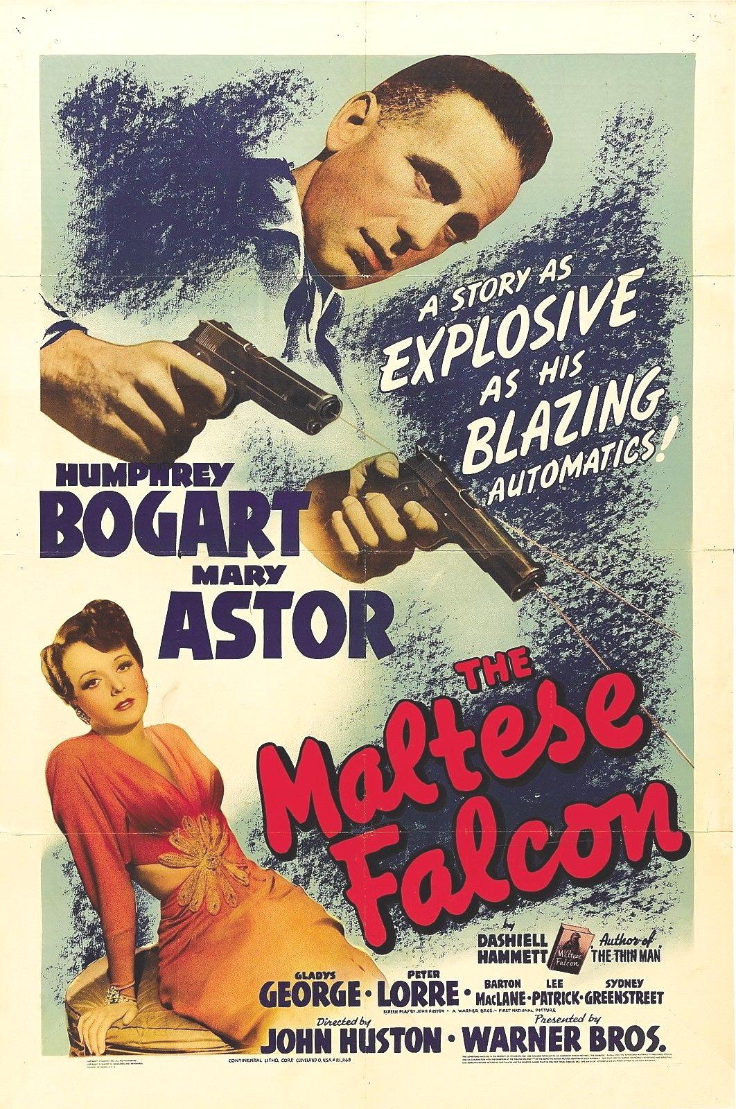 The maltese falcon poster 24x36 guns astor