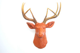 Near and Deer Faux Taxidermy Rhino Head Wall Mount White//Chrome Near /& Deer RH0113