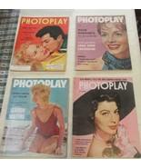 4 Photoplay Magazines,1951,54,58,&1960,Reynolds, Hudson, Leigh, Ava Gardner - $23.36