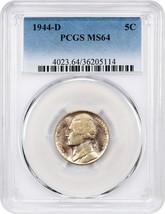 1944-D 5c PCGS MS64 - Jefferson Nickel - $29.10