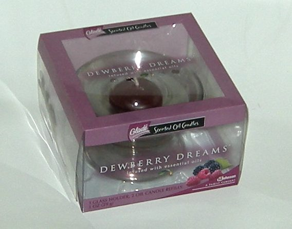 Glade Dewberry Dreams Scented Oil Candles NIB