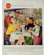 1958 COKE COCA-COLA VINTAGE PRINT AD! ROCKERFELLER CENTER NEW YORK CITY ... - $9.74