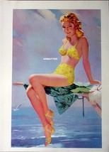 Vintage 2-Sided Pin-up  girl print Arthur Sarnoff Art - $7.91