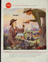 1958 COKE COCA-COLA VINTAGE PRINT AD! 1950'S THEME WYOMING COWBOY COWGIR... - $9.89