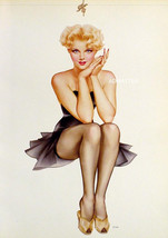 VARGAS 2-SIDED 9X12 PIN-UP GIRL POSTER FRENCH MAID & HOTTIE FROM 1944 PA... - $12.58