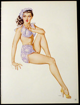 VARGAS 3 PINUP GIRL CENTERFOLD POSTERS HOTTIES FROM 1946 VARGA ESQUIRE P... - $17.33
