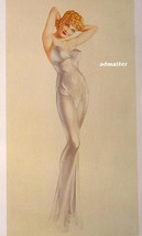 "Alberto Vargas Pin-up Girl in Sexy Evening Gown 8-1/2X11"" Print - $9.89"