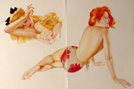 Vargas Lot Of 4 Incredible Pin Up Girl Posters From 1944 Esquire Varga Paintings - $24.08