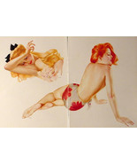 VARGAS LOT OF 4 INCREDIBLE PIN-UP GIRL POSTERS FROM 1944 ESQUIRE VARGA P... - $24.08