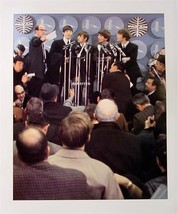 Vintage 11x14 Beatles Double-Sided Pin-up Poster Ed Sullivan Show arrival Photo - $9.74