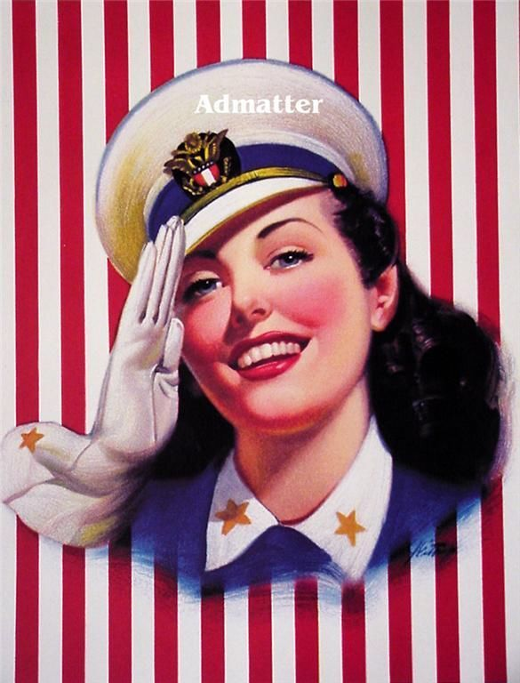 Primary image for Patriotic Pin-up Girl Sexy Navy Sailor Wittrup Art