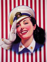 Patriotic Pin-up Girl Sexy Navy Sailor Wittrup Art - $6.89