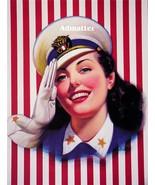 Patriotic Pin-up Girl Sexy Navy Sailor Wittrup Art - $6.89