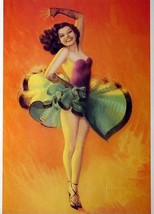 8-1/2 X 11 Pin-up Girl Poster Rolf Armstrong Beautiful Latino Dancer - $9.74