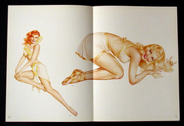 VARGAS LOT OF 3 PIN-UP GIRL CENTERFOLD POSTERS FROM 1946 VARGA ESQUIRE P... - $16.82