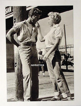 MARILYN MONROE PIN-UP POSTER  IN BLUE JEANS & SNEAKERS SHARING CANDY BAR... - $5.94