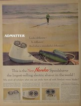 1958 Noreclo speed shaver Ad man surf fishing & lures - $4.99