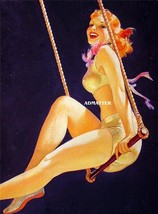 "William Fulton Soare  8 1/2"" x 11"" Pin-up Circus Girl Sexy Flying Trapeze! - $12.86"
