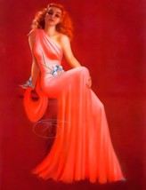 Billy DeVorss Beautiful Redhead Pin-up girl Poster Print Awesome photo! - $10.69