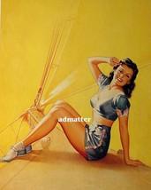 Pearl Frush Pin Up Girl Poster Sexy Sailing Sailboat Hot Ocean Photo Art Print! - $4.99