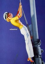 Earl Moran Pin-up Girl Poster Navy Sailor Climbing Mast 8 1/2 X 11 Print - $7.84