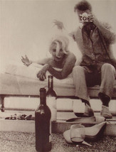 Marilyn Monroe 2-sided 9X12 Pin-up Poster Candid Party Photo Drinking Wine! - $9.89