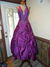 Mori Lee Purple size 10 Formal Prom Pageant Cruise dress Pullups Halter ... - $149.99