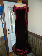 Tiffany size 10 Red Velvetine Formal Prom Pageant Cruise dress New with ... - $69.99