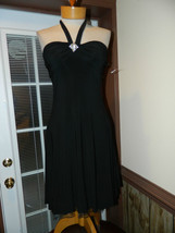 B.Darlin size 5/6 Black Halter style Cocktail Evening Cruise dress New with tag - $29.99