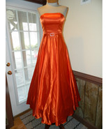 Cool Collection size 4 Orange Formal Prom Pageant Cruise dress Strapless NWOT - $79.99