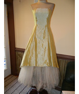 Roberta size 7/8 Green/ Gold formal Cruise Prom Pageant dress, Preloved EUC - $44.99