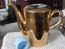 RARE ! VTG HOMER LAUGHLIN GOLD TEA COFFEE POT CHINA WARRENTED 22 KT GOLD image 4