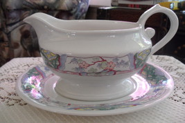 MIKASA VILLA MEDICI, CV900 Gravy boat with undeplate, Excellent condition - $19.79