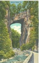 Natural Bridge, VA, 1950 used linen Postcard  - $3.99