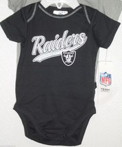 NFL NWT INFANT ONESIE-SET OF 2- OAKLAND RAIDERS 0-3 MONTHS - €21,19 EUR