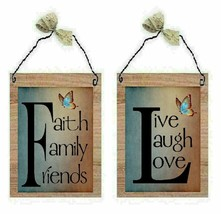 Live Laugh Love Pictures Faith Family Friends Blue Brown Wall Hangings P... - $7.99+