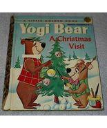 Yogi Bear A Christmas Visit Vintage 1961 Little Golden Book First Print - $7.95