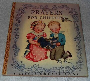 Prayers for Children Vintage 1942 Little Golden Book