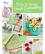 Easy To Learn Hand Embroidery sewing embroidery chart Annie's Publications - $11.70