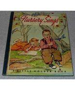 Nursery Songs Vintage Little Golden Book Blue Binding - $7.95