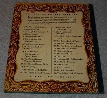 Nursery Songs Vintage Little Golden Book Blue Binding