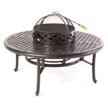 """Patio table Cast Aluminum furniture 52"""" Ice Tea / Fire Pit  Nassau  Bronze  image 1"""