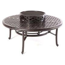 """Patio table Cast Aluminum furniture 52"""" Ice Tea / Fire Pit  Nassau  Bronze  image 2"""