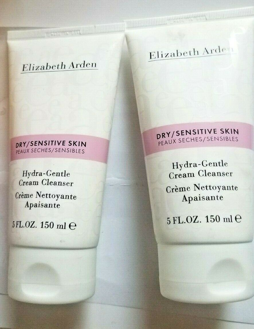 Primary image for 2 x Elizabeth Arden Hydra-Gentle Cream cleanser Dry Sensitive Skin 5 oz 2 Tubes
