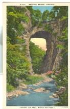 Natural Bridge, Virginia, unused linen Postcard - $3.99