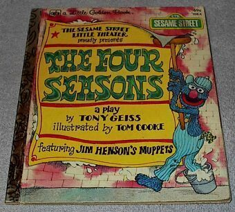 Sesame Street The Four Seasons Vintage 1979 Little Golden Book