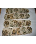 CUSTOM LEOPARD LION & TIGER JUNGLE CATS CEILING FAN w/LIGHT - $99.99