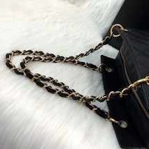 AUTHENTIC CHANEL QUILTED CAVIAR PST PETITE SHOPPING TOTE BAG BLACK SHW RECEIPT image 8
